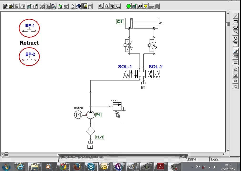 Circuito Hidraulico Basico : Sistema hidrulico basico hidraulico t log