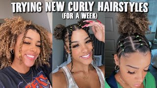 Trying NEW Curly Hairstyles For a WEEK pt. 2 | Azlia Williams