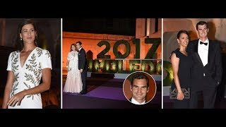 Roger Federer arrives at Wimbledon Champions Dinner after record eighth victory