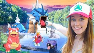 Pokemon GO W/ Ali! - LAKE OF RAGE GYARADOS HUNT!