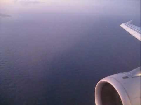 atterissage à malte Airbus A320 - landing Malta- Luqa Intl. Airport, Malta