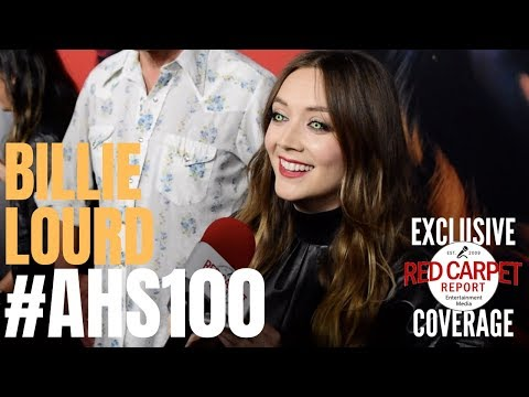 Billie Lourd Interviewed At FX Network's American Horror Story 100 Episodes Red Carpet #AHSFX