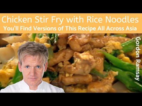 Gordon Ramsay Chicken Stir Fry with Rice Noodles