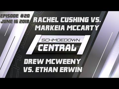 Schmoedown Central #20: Rachel Cushing vs. Markeia McCarty   Drew McWeeny vs. Ethan Erwin