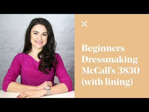 Beginners Dressmaking - McCall's Skirt 3830 Pattern - (Waistband & Lining)