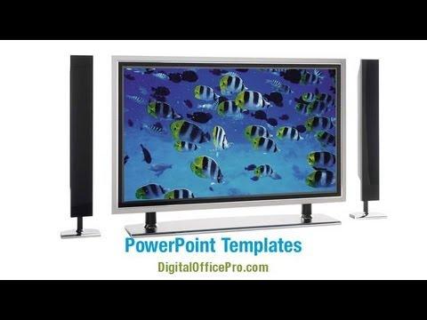 Plasma TV PowerPoint Template Backgrounds - DigitalOfficePro #06592W