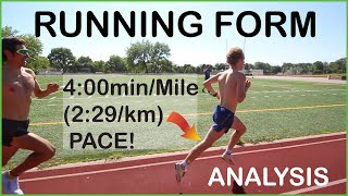 4:00/Mile (2:29/km) RUNNING FORM ANALYSIS FT. THE ATHLETE SPECIAL : Proper Technique Tips for Speed!