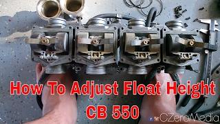 how to adjust cb550 float 75 honda cb550 cafe racer build pt 64