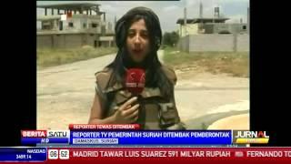 Repeat youtube video Reporter TV Pemerintah Suriah Ditembak Pemberontak