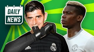 Transfer News: Courtois Pushes For Real Madrid Move, Barcelona Bid For Pogba   Kovačić Wants Out!