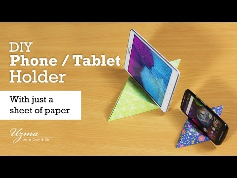 DIY Phone Holder / Tablet Holder using paper | Origami | Very Easy to Make!