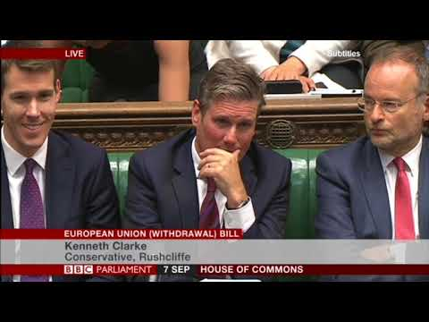 Ken Clarke's full speech on the European Union withdrawal bill 07/09/2017