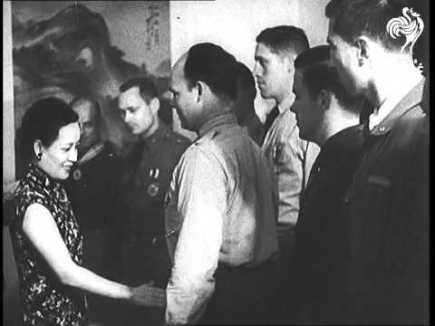 Madame Chiang Kai Shek Honours Tokyo Raiders (1943)