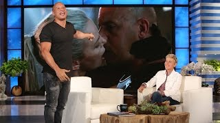 Vin Diesel's Side of the Charlize Theron Kiss Story by : TheEllenShow
