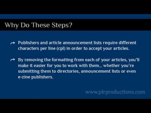 How To Format Articles Before You Submit