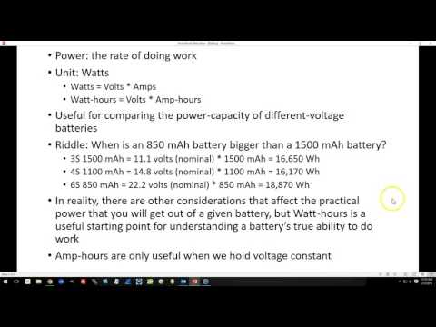 Battery Specifications Primer