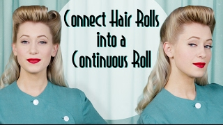 Continuous Roll 1940s Vintage Hairstyle Tutorial with help from the Roll & Go Hair Tool