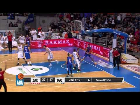 Highlights: Zadar - Igokea [ABA – Round 12] [30/11/2015]