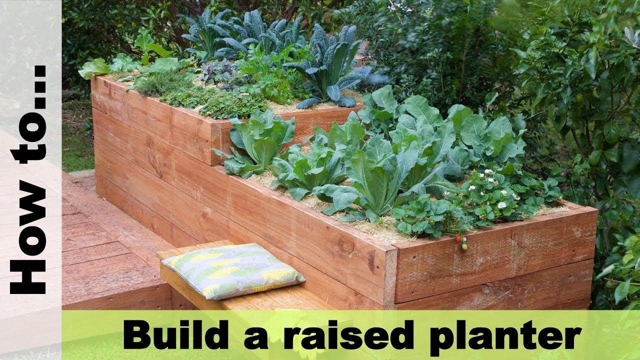 diy raised planter box youtube. Black Bedroom Furniture Sets. Home Design Ideas