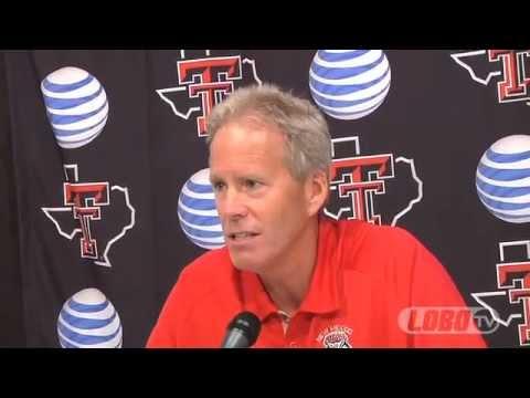 2012 Lobo Football | Coach Bob Davie Post-Texas Tech Press Conference