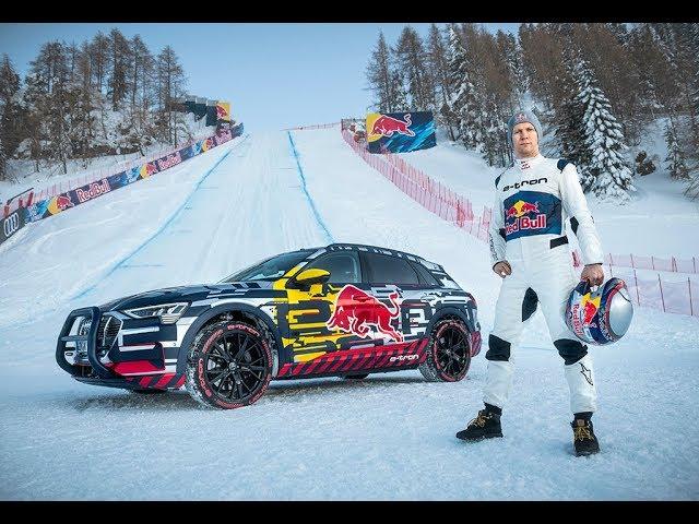 Audi E-Tron Quattro/Mattias Ekström vs Streif/Mausefalle (Kitzbühel) - AutoWereld