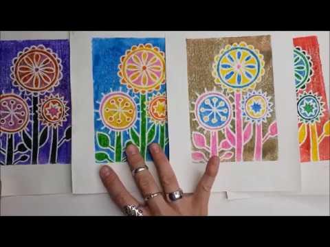 Printmaking With Marker On Styrofoam