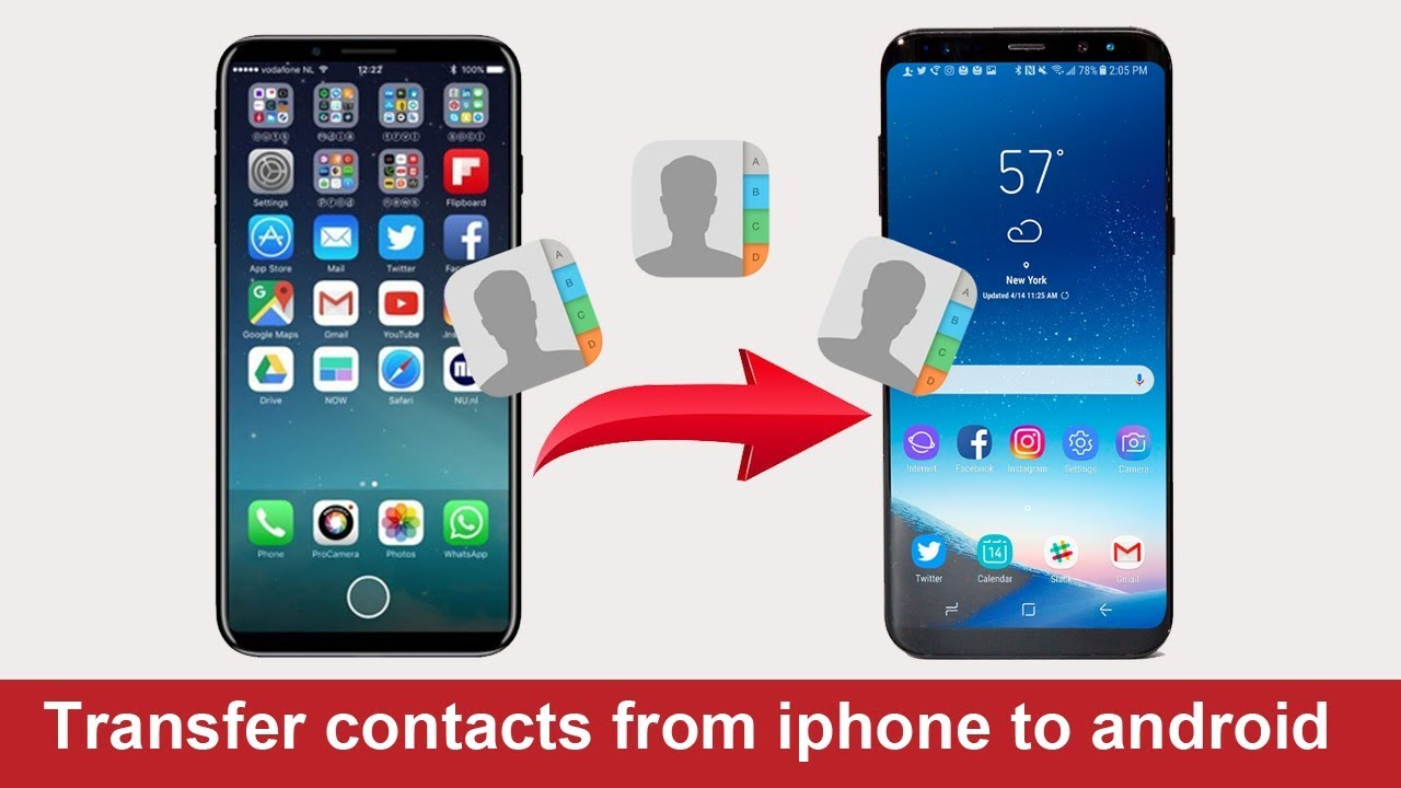 sync contacts from android to iphone transfer contacts from iphone to android without computer 19465