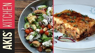 Authentic Greek Moussaka & Greek Salad  | Akis Petretzikis