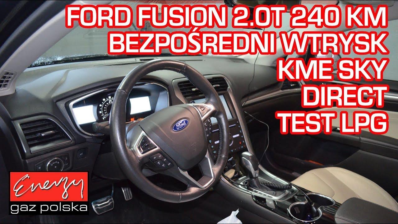 Jazda próbna testowa: Test LPG Ford Fusion 2.0T 240KM 15r bezpośredni wtrysk w Energy Gaz na autogaz