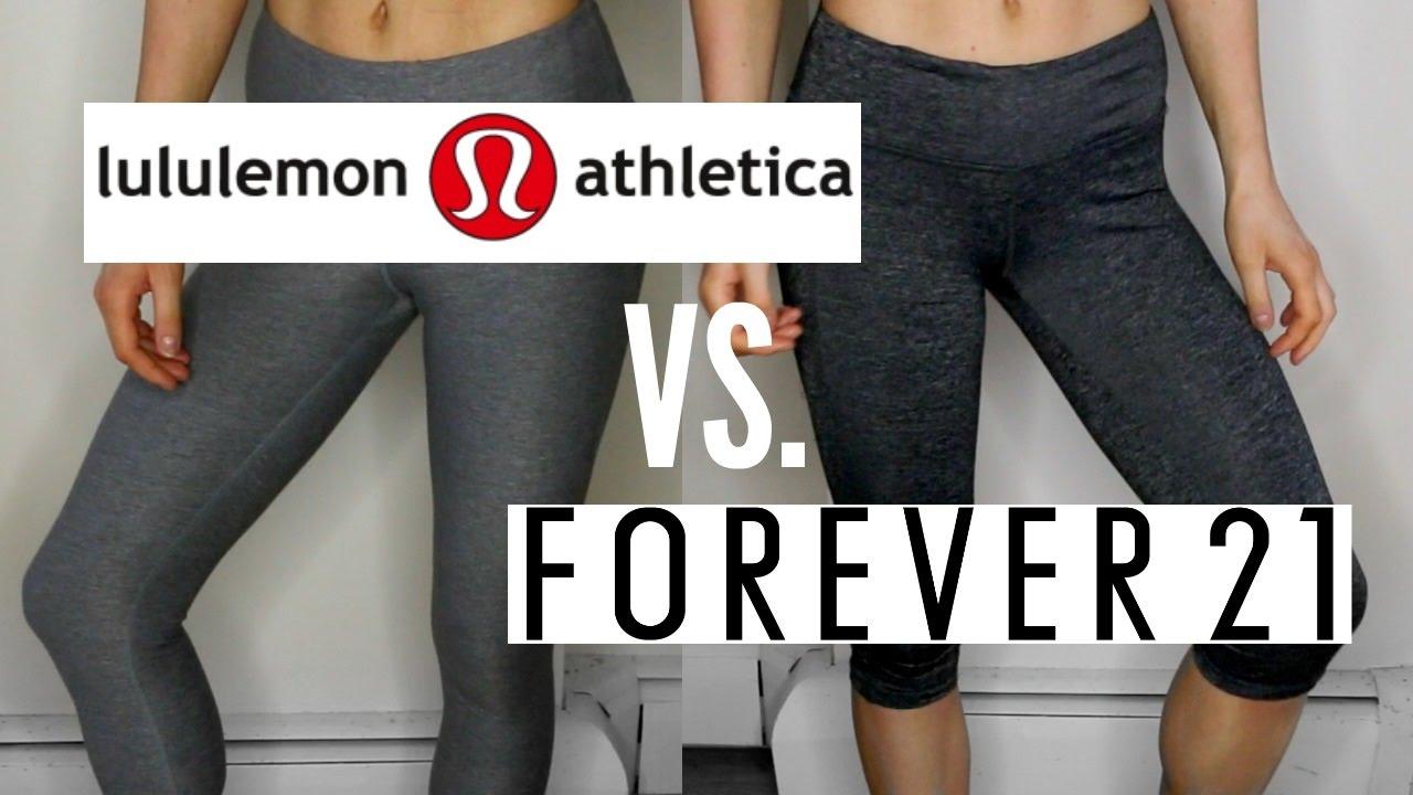 ffb237375b5 Lululemon vs Forever 21 Leggings | WHICH IS BETTER - YouTube