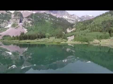 Maroon Bells - 4k Phantom 4 Drone over Maroon Lake and Crater Lake -