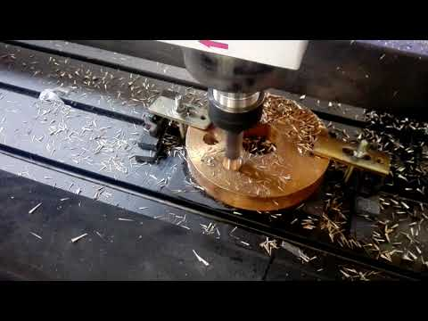 Cnc router Drilling on copper