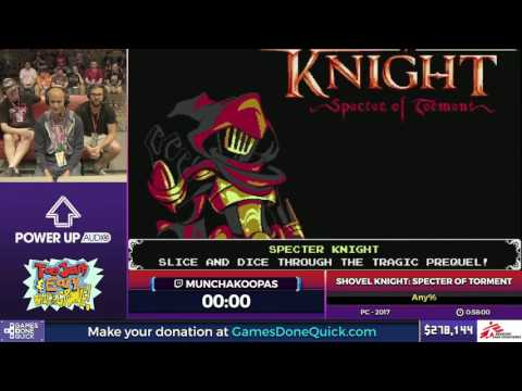 Shovel Knight: Specter of Torment by MunchaKoopas in 45:02 - SGDQ2017 - Part 43