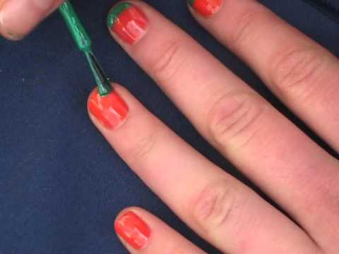 Watermelon nail art design