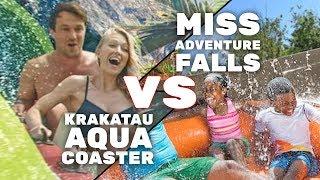 KRAKATAU AQUA COASTER vs MISS ADVENTURE FALLS - ITM Ultimate Attraction Showdown