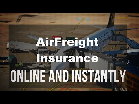 Air Freight Insurance Online and Instantly