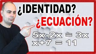 Ecuaciones de primer grado. ¿Identidad o ecuación?