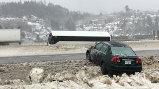 الظروف الجليدية خلق الفوضى في B. C. وادي فريزر
