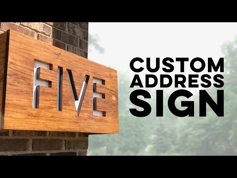 Custom Address Sign With Backlight // How-To // Woodworking