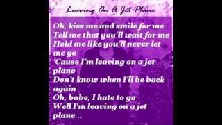 Sophie Barker - Leaving On A Jet Plane (with lyrics)