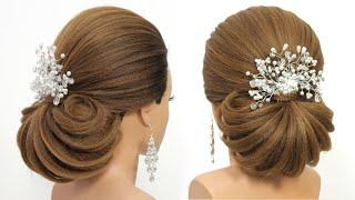 Прически на длинные волосы Модный текстурный низкий пучок