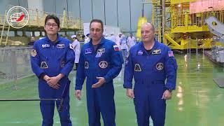 Экипажи МКС-54/55 провели контрольный осмотр космического корабля «Союз МС-07»