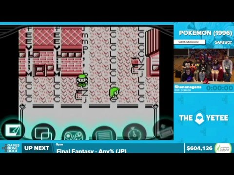 Pokemon Glitch Exhibition by Shenanagans in 25:00 - Awesome Games Done Quick 2016 - Part 130