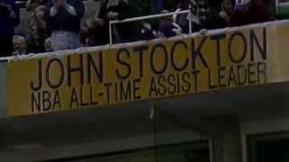 John Stockton Breaks NBA All-Time Assists Record - February 1, 1995