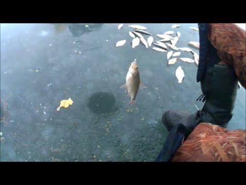 Зимняя рыбалка на веселовском водохранилище