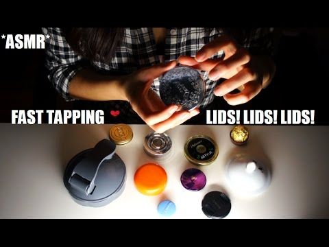 ASMR FAST AGGRESSIVE TAPPING LIDS LOTS OF LIDS!! (MIXED PACE LID SOUNDS) TINGLES TINGLES!!