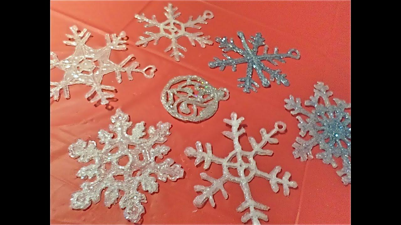 Copos de nieve con silicón caliente / Glue gun snowflakes - YouTube