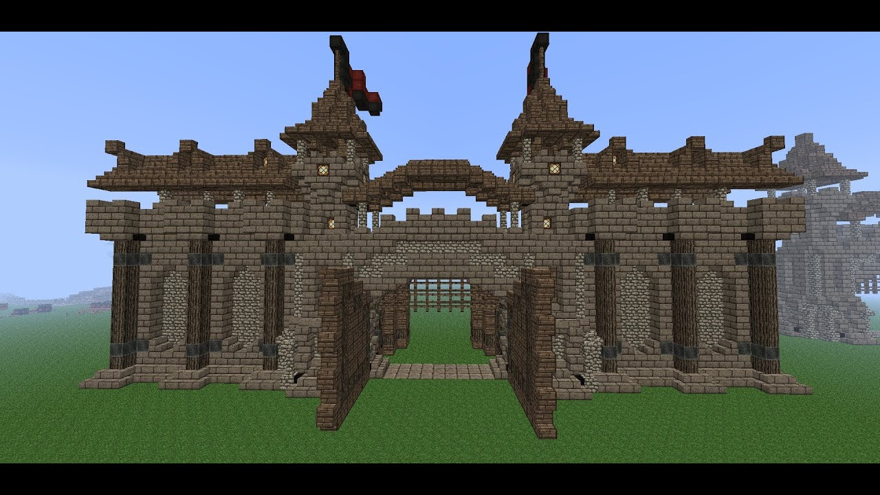 Minecraft Medieval Wall  Tutorial  How To Build A Wall  Part 3 (Wall  Details)   YouTube