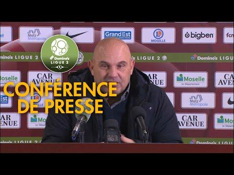 Conférence de presse FC Metz - AJ Auxerre ( 0-1 )  / 2018-19