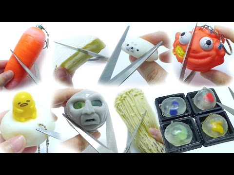 Cutting Open Squishy Squeeze Toy Compilation [No Music] Doovi